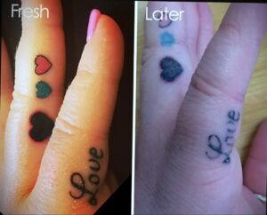 Фото старения татуировки 15.03.2021 №025 - aging tattoo - tatufoto.com