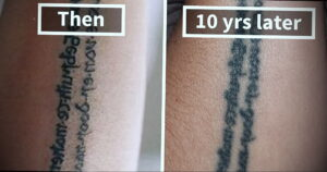 Фото старения татуировки 15.03.2021 №028 - aging tattoo - tatufoto.com