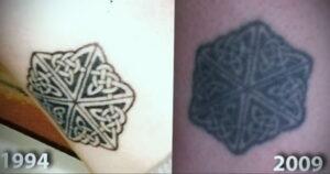 Фото старения татуировки 15.03.2021 №033 - aging tattoo - tatufoto.com
