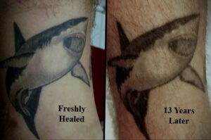 Фото старения татуировки 15.03.2021 №034 - aging tattoo - tatufoto.com