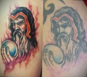 Фото старения татуировки 15.03.2021 №037 - aging tattoo - tatufoto.com