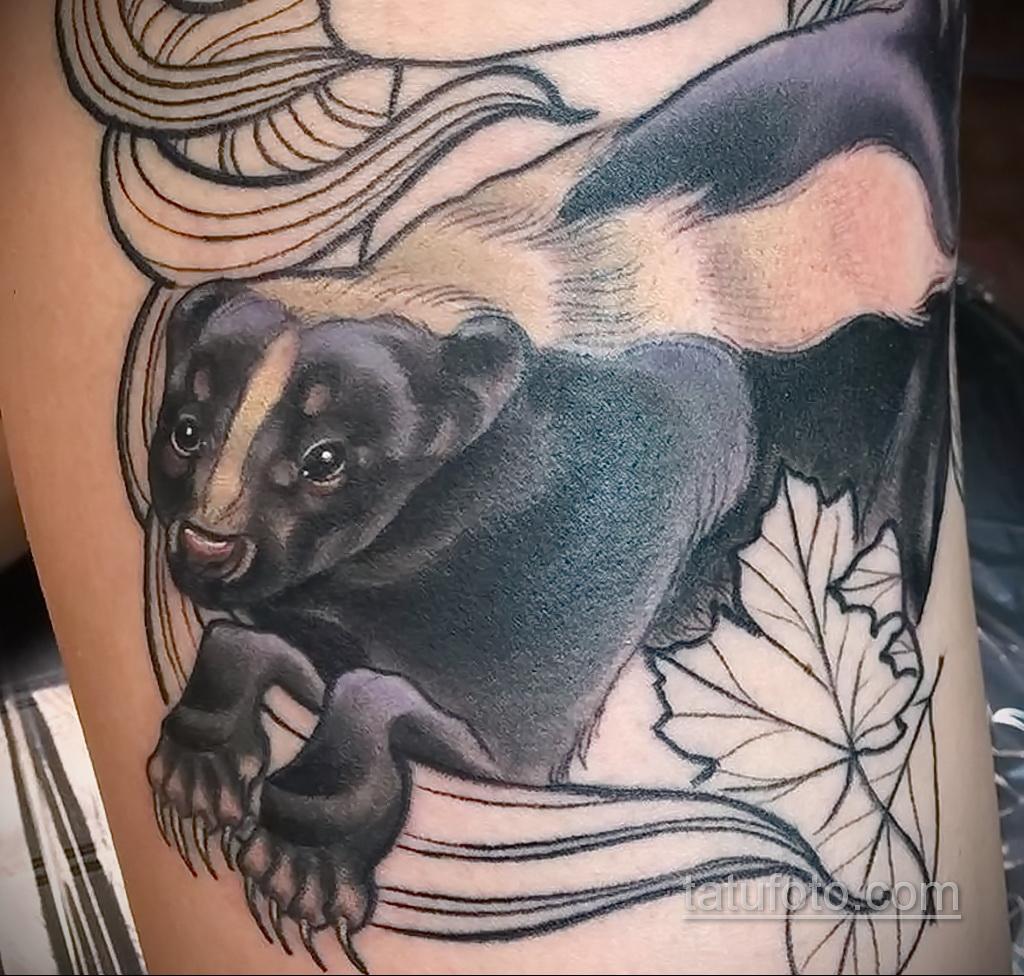 Фото татуировки со скунсом 28.03.2021 №430 - Skunk tattoo - tatufoto.com