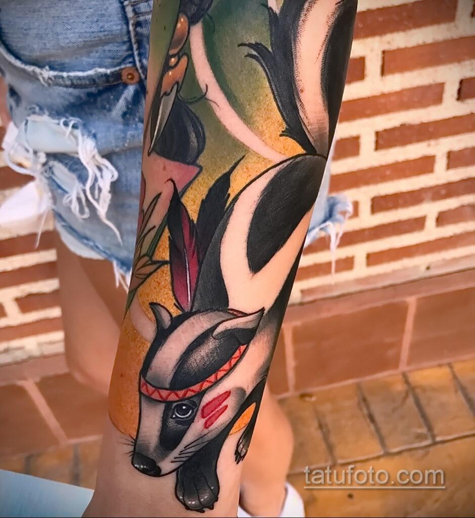 Фото татуировки со скунсом 28.03.2021 №463 - Skunk tattoo - tatufoto.com