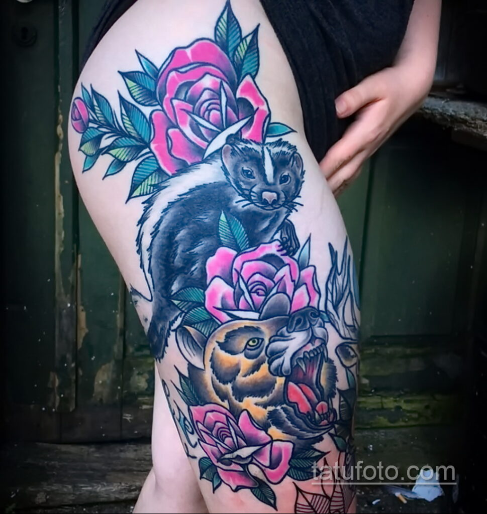 Фото татуировки со скунсом 28.03.2021 №474 - Skunk tattoo - tatufoto.com