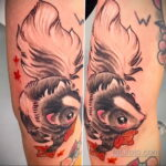 Фото татуировки со скунсом 28.03.2021 №503 - Skunk tattoo - tatufoto.com