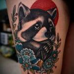 Фото татуировки со скунсом 28.03.2021 №514 - Skunk tattoo - tatufoto.com