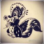 Фото татуировки со скунсом 28.03.2021 №519 - Skunk tattoo - tatufoto.com