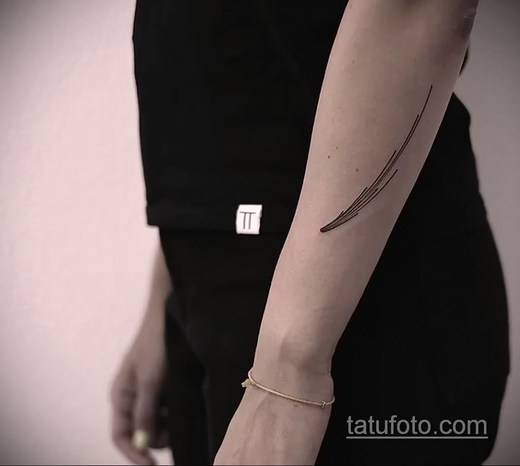 Фото татуировки с кометой (астероидом) 27.03.2021 №042 - comet tattoo - tatufoto.com