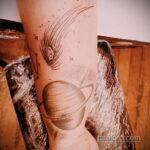 Фото татуировки с кометой (астероидом) 27.03.2021 №146 - comet tattoo - tatufoto.com