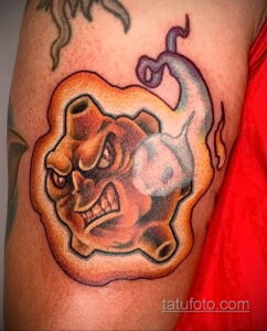 Фото татуировки с кометой (астероидом) 27.03.2021 №178 - comet tattoo - tatufoto.com