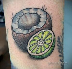 Фото татуировки с лаймом 31.03.2021 №004 - lime tattoo - tatufoto.com