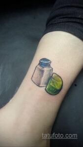 Фото татуировки с лаймом 31.03.2021 №021 - lime tattoo - tatufoto.com