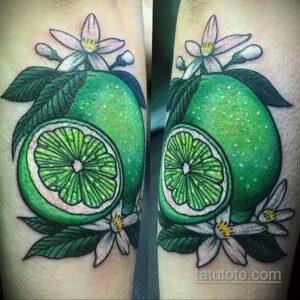 Фото татуировки с лаймом 31.03.2021 №022 - lime tattoo - tatufoto.com