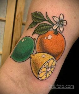Фото татуировки с лаймом 31.03.2021 №052 - lime tattoo - tatufoto.com