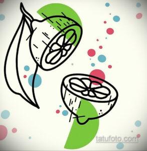 Фото татуировки с лаймом 31.03.2021 №187 - lime tattoo - tatufoto.com