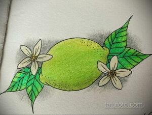 Фото татуировки с лаймом 31.03.2021 №193 - lime tattoo - tatufoto.com