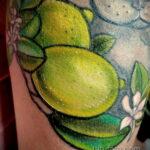 Фото татуировки с лаймом 31.03.2021 №212 - lime tattoo - tatufoto.com