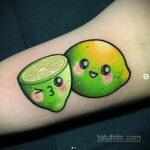 Фото татуировки с лаймом 31.03.2021 №221 - lime tattoo - tatufoto.com