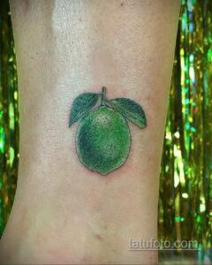 Фото татуировки с лаймом 31.03.2021 №223 - lime tattoo - tatufoto.com