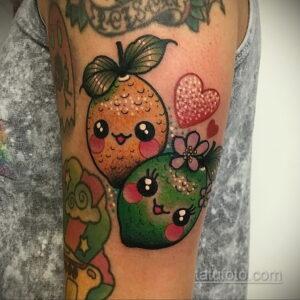 Фото татуировки с лаймом 31.03.2021 №225 - lime tattoo - tatufoto.com