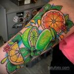 Фото татуировки с лаймом 31.03.2021 №226 - lime tattoo - tatufoto.com