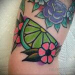 Фото татуировки с лаймом 31.03.2021 №228 - lime tattoo - tatufoto.com