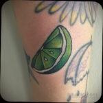 Фото татуировки с лаймом 31.03.2021 №232 - lime tattoo - tatufoto.com