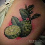 Фото татуировки с лаймом 31.03.2021 №234 - lime tattoo - tatufoto.com