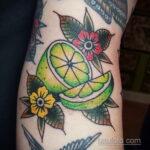 Фото татуировки с лаймом 31.03.2021 №236 - lime tattoo - tatufoto.com