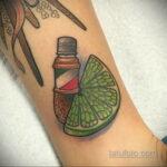 Фото татуировки с лаймом 31.03.2021 №238 - lime tattoo - tatufoto.com