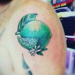 Фото татуировки с лаймом 31.03.2021 №240 - lime tattoo - tatufoto.com