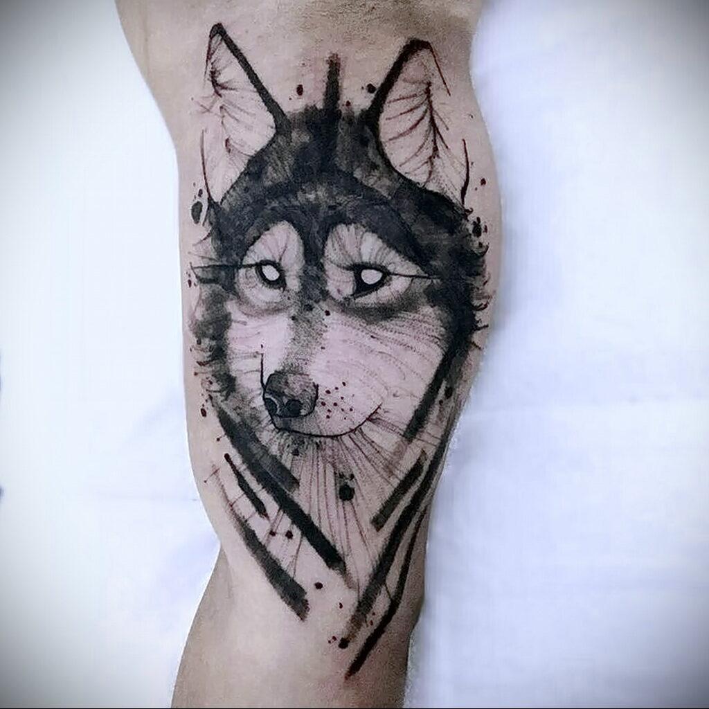 Фото татуировки с собакой породы Хаски 08.03.2021 №1101 - husky tattoo - tatufoto.com