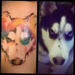 Фото татуировки с собакой породы Хаски 08.03.2021 №25125 - husky tattoo - tatufoto.com