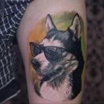 Фото татуировки с собакой породы Хаски 08.03.2021 №40140 - husky tattoo - tatufoto.com