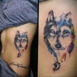 Фото татуировки с собакой породы Хаски 08.03.2021 №44144 - husky tattoo - tatufoto.com