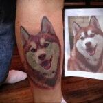 Фото татуировки с собакой породы Хаски 08.03.2021 №49149 - husky tattoo - tatufoto.com