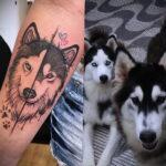 Фото татуировки с собакой породы Хаски 08.03.2021 №51151 - husky tattoo - tatufoto.com