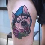Фото татуировки с собакой породы Хаски 08.03.2021 №53153 - husky tattoo - tatufoto.com