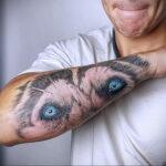 Фото татуировки с собакой породы Хаски 08.03.2021 №55155 - husky tattoo - tatufoto.com