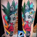 Фото татуировки с собакой породы Хаски 08.03.2021 №56156 - husky tattoo - tatufoto.com