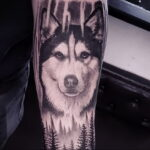 Фото татуировки с собакой породы Хаски 08.03.2021 №67167 - husky tattoo - tatufoto.com