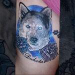 Фото татуировки с собакой породы Хаски 08.03.2021 №69169 - husky tattoo - tatufoto.com