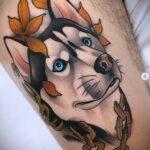 Фото татуировки с собакой породы Хаски 08.03.2021 №73173 - husky tattoo - tatufoto.com