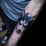 Фото татуировки с собакой породы Хаски 08.03.2021 №78178 - husky tattoo - tatufoto.com
