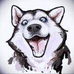 Фото татуировки с собакой породы Хаски 08.03.2021 №81181 - husky tattoo - tatufoto.com