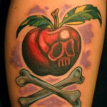 Фото татуировки с яблоком 03.03.2021 №174 - apple tattoo - tatufoto.com