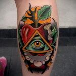 Фото татуировки с яблоком 03.03.2021 №200 - apple tattoo - tatufoto.com