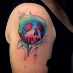 Фото татуировки с яблоком 03.03.2021 №250 - apple tattoo - tatufoto.com
