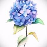 Фото татуировки цветок гортензия 31.03.2021 №112 - tattoo hydrangea - tatufoto.com