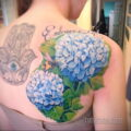 Фото татуировки цветок гортензия 31.03.2021 №115 - tattoo hydrangea - tatufoto.com